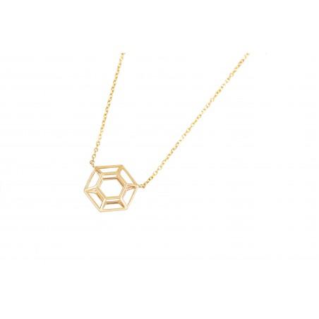 Collar hexágono geométrico,...
