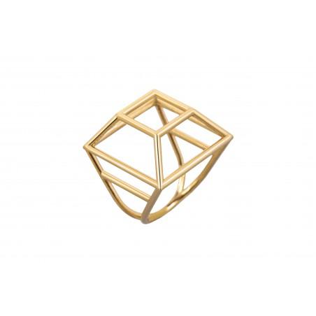 Anillo geométrico cuadrado...