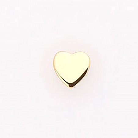 Pendiente corazón, en oro...