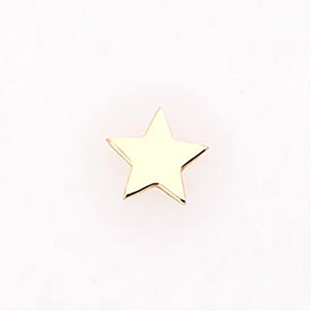 Pendiente estrella, en oro...