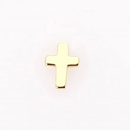 Pendiente cruz, en oro...