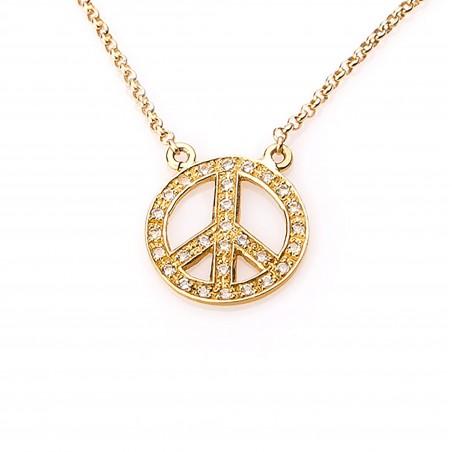 Collar símbolo de la paz,...
