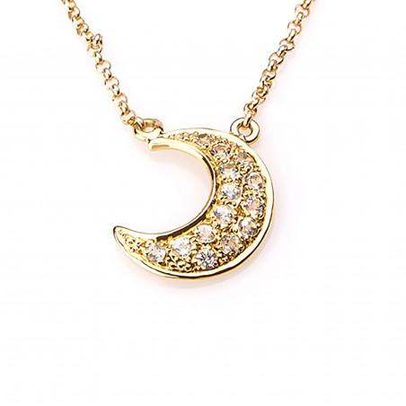 Collar luna con topacio...