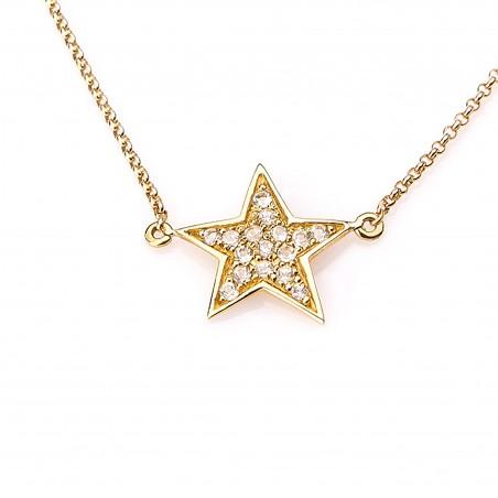 Collar estrella con topacio...